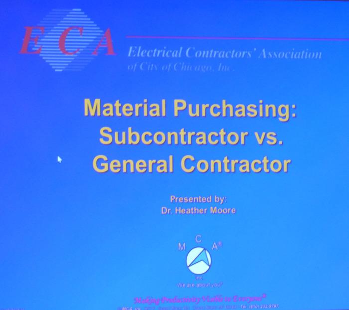 Material Purchasing: Subcontractor vs. General Contractor.