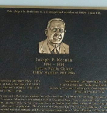 Local 134 Honors Joseph P. Keenan